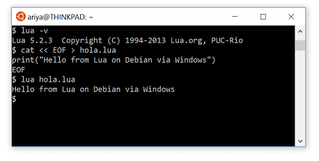 Debian on windows via wsl ariya when you activate windows 10 feature called windows subsystem for linux wsl it will download and install ubuntu linux as of now version 12041404 ccuart Images